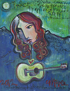 Live Music Painting Posters - Roseanne Cash Poster by Laurie Maves