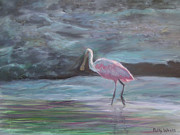 Spoonbill Paintings - Roseate Spoonbill by Patty Weeks