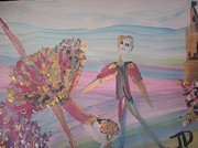 Stage Painting Originals - Rosebud Ballet by Judith Desrosiers