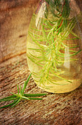 Healthy Herbs Posters - Rosemary and Oil Poster by Darren Fisher