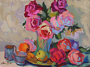Fruit And Wine Originals - Roses and Apples by Diane McClary