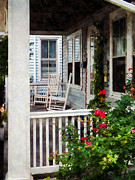 Rocking Chairs Photos - Roses and Rocking Chairs by Susan Savad