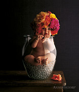 Vase Photos - Roses by Anne Geddes