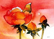 Rosebud Paintings - Roses are Red by Sloane FinneganAllen