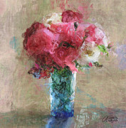 Roses For Mom Print by Arline Wagner