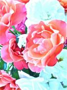 Roses Galore Print by Gwyn Newcombe