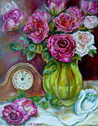 Montreal Paintings - Roses In A Vase Still Life by Carole Spandau