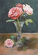 Jill Brabant - Roses in Glass Vase