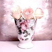 Histogram Prints - Roses in Roses Print by Marsha Heiken