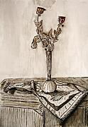 Jerusalem Paintings - Roses in sepia. by Shlomo Zangilevitch