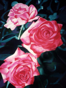 Floral Paintings - Roses by Jerome Lawrence