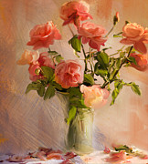 Summer Flowers Photos - Roses la Belle by Linde Townsend