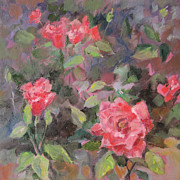 Floral Paintings - Roses by Marty Husted