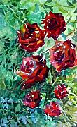 Botanical Drawings - Roses by Mindy Newman