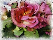 Photo Manipulation Mixed Media Posters - Roses  Poster by Morgana Blackcat