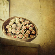 Lucca Metal Prints - Roses On Window Metal Print by Marco Misuri