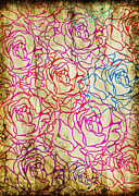 Border Metal Prints - Roses Pattern Metal Print by Setsiri Silapasuwanchai