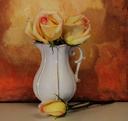 Floral Still Life Prints - Roses Stay Together Print by Marsha Heiken