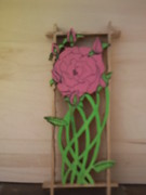 Signed Pyrography - Roses by Timothy Wilkerson