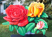 Decoration Reliefs - Roses tricolored by Steve Orin