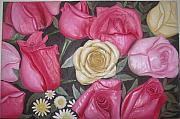 Featured Reliefs Originals - Roses Wall Mural by Prity Jain