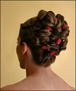 Updo Photo Posters - Rosettes Poster by Kristin Elmquist