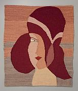 Pinks Tapestries - Textiles - Rosie by Jean Fortune Kaplan