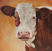 Moo Moo Paintings - Rosie by Laura Carey