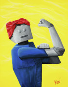 Rosie The Riveter Painting Prints - Rosie- Tempered and Timeless Print by Kerri Ertman