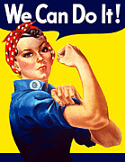War Propaganda Digital Art Metal Prints - Rosie The Rivetor Metal Print by War Is Hell Store