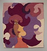 Woman Tapestries - Textiles Originals - Rosies Sister by Jean Fortune Kaplan