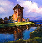 Castle Pastels - Ross Castle Killarney Ireland by Roman Burgan