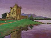 Castle Pastels - Ross Castle by Marion Derrett
