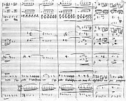 Page Drawings - Rossini Manuscript Page by Granger