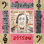 Pi Mixed Media - Rossini portrait by Paul Helm