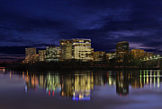 Blue Photo Acrylic Prints - Rosslyn Skyline Acrylic Print by Metro DC Photography