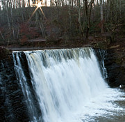 White River Scene Photo Originals - Roswell Falls by Michael Waters