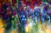 Red White And Blue Mixed Media - Rosy Paintbrush by Don  Wright
