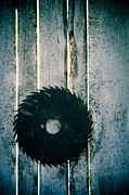 Old Saws Framed Prints - Rotary Blade Framed Print by Lars Hallstrom