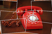 Antique Telephone Posters - Rotary Poster by Cheryl Young