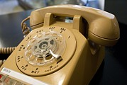 Analog Prints - Rotary-dial Telephone Print by Mark Williamson