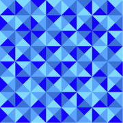 Ron Brown - Rotated Blue Triangles