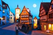 Bayern Framed Prints - Rothenburg ob der Tauber 01 Framed Print by Tom Uhlenberg