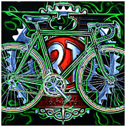 Chainring Paintings - Rotrax by Mark Howard Jones