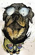 Prairie Dog Mixed Media Originals - Rotweiler by Mark M  Mellon
