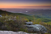 Blue Ridge Mountains Posters - Rough Ridge Dawn Poster by Andrew Soundarajan