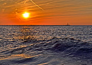 Amazing Sunset Prints - Rough Sea Print by Robert Harmon