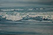 Rough Surf Print by Amy Bernays