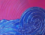 Storm Prints Painting Acrylic Prints - Rough Waters Acrylic Print by Tami Bush