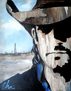 Contemporary Cowboy Paintings - Roughneck by Cheri Stripling
